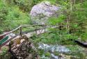 Zimitztal, alpesi romantika vízeséssel és idilli fekvésű hegyi tanyákkal