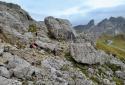 Nuvolau, Cinque Torri, a Dolomitok látványos gyalogtúrája könnyű csúcsmászással