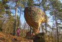 Piliscsaba, Gomba-szikla, Ördögoltár-szikla