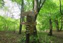 Pilisszentlélek, Két-bükkfa-nyereg, Fekete-kő, Fekete-hegyi kulcsosház