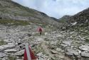 Schareck, alpesi tanösvény a Grossglockner panorámaút felett